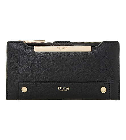 DUNE Kessica leather-look purse (Black-plain+synthetic