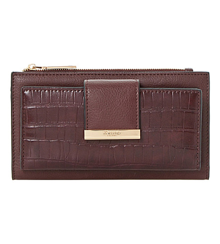 DUNE Kira faux-croc embossed purse (Berry-plain+synthetic