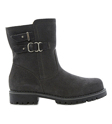 BERTIE Rainstorm suede snow boots (Grey-suede