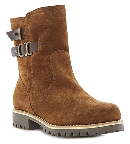 BERTIE Rainstorm suede snow boots (Tan-suede
