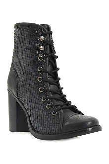 BERTIE Peto woven leather ankle boots