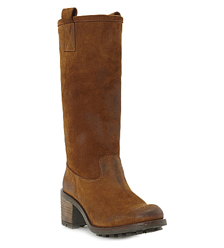 BERTIE Rumor suede knee-high boots (Brown-suede
