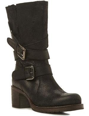 BERTIE Raindrop leather calf-high boots