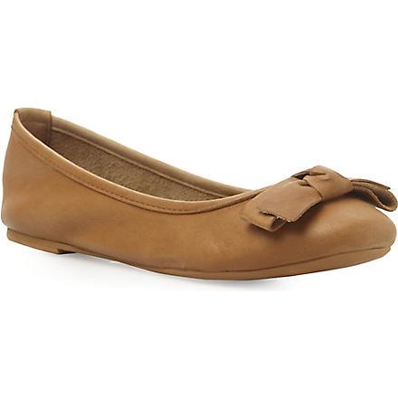 BERTIE Momos dark tan ballerina shoe (Dark tan-leather