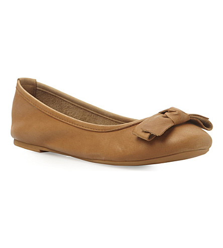 BERTIE Momos dark tan ballerina shoe (Dark tan-leather