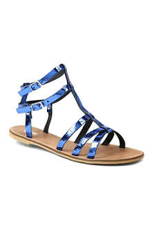 BERTIE Jovenia metallic leather gladitor sandals