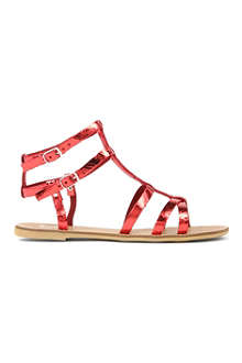 BERTIE Jovenia metallic leather gladiator sandals