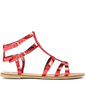 BERTIE Jovenia metallic leather gladiator sandals