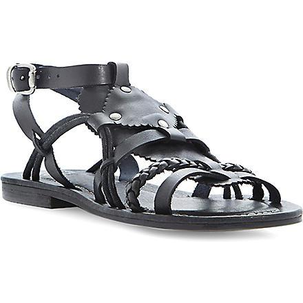 BERTIE Leather gladiator sandals (Black-leather