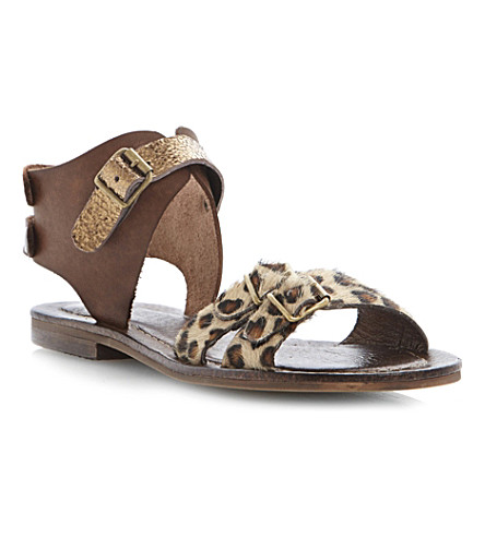 BERTIE Jarva gladiator sandals (Tan-leather