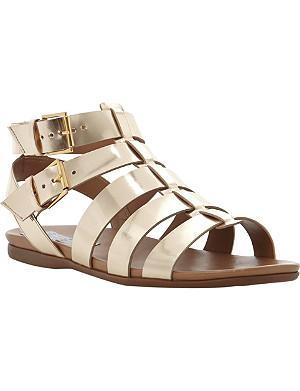 BERTIE Jadie metallic leather gladiator sandals