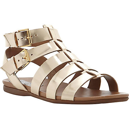 BERTIE Jadie metallic leather gladiator sandals (Gold-synthetic