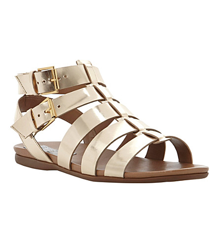 BERTIE Jadie metallic leather gladiator sandals (Gold-synthetic