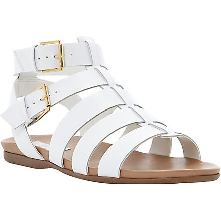 BERTIE Jadie leather gladiator sandals (White-leather
