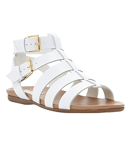 BERTIE Jadie leather gladiator sandals (White-leather