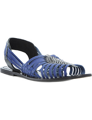 BERTIE Jarna - leather woven huarache sandal