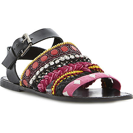 BERTIE Jaipur embellished sandals (Pink-fabric