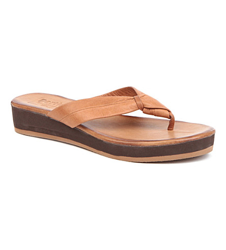 BERTIE Jinfer leather flatform sandals (Tan-leather