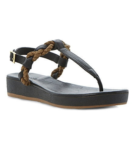 BERTIE Jar leather rope sandals (Black-leather