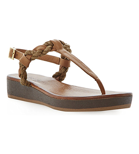 BERTIE Jar platform sandals (Tan-leather