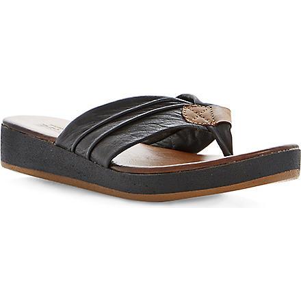 BERTIE Jainey leather flatform sandals (Black-leather