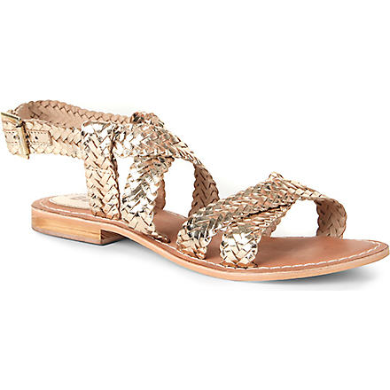 BERTIE Jakko woven leather sandals (Gold-leather
