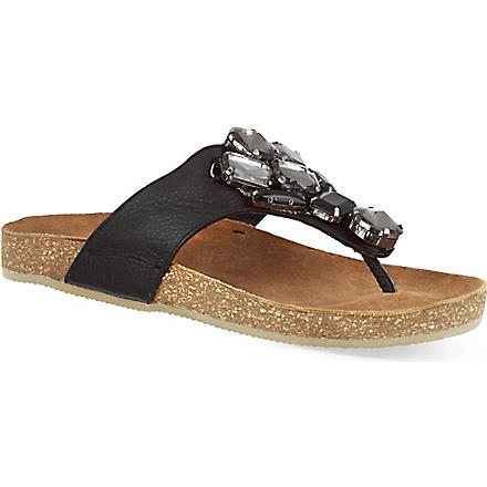 BERTIE Jellow sandals (Black-leather