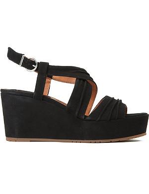 BERTIE Golder suede flatform sandals
