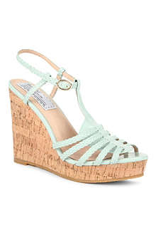 BERTIE Gleen leather wedge sandals