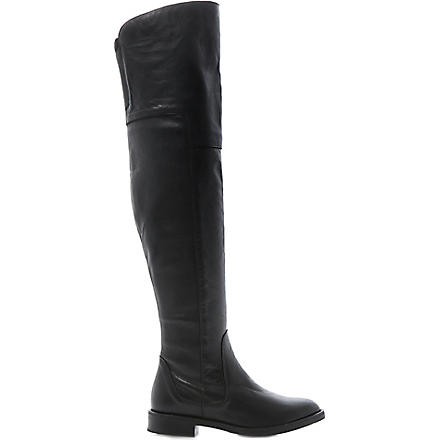 BERTIE Torrent leather over-the-knee boots (Black-leather