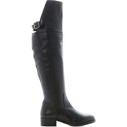 BERTIE Tibby leather over-the-knee boots (Black-leather