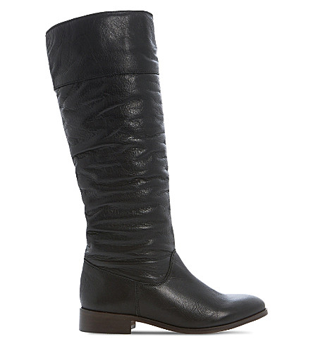 BERTIE Tiffin knee high boots (Black leather