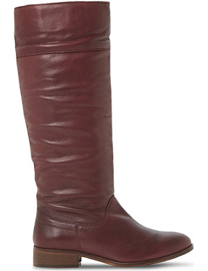 BERTIE Tiffin knee-high leather boots