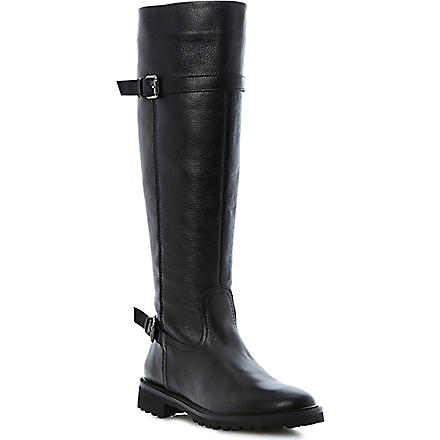 BERTIE Thunder leather knee-high boots (Black-leather