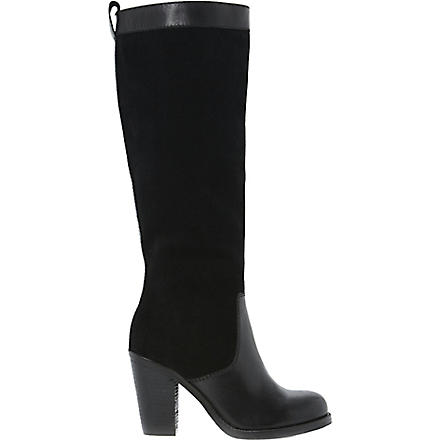 BERTIE Tempest knee-high boots (Black-leather