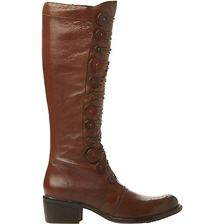BERTIE Pixie buttoned knee-high boots (Tan