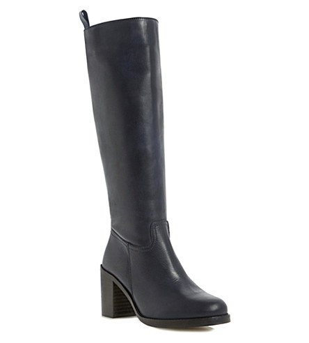 BERTIE Tinder leather knee-high boots (Navy-leather