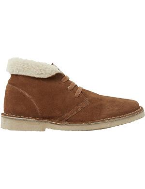 BERTIE Pallie suede desert boots