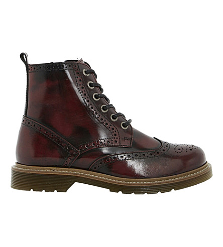 BERTIE Lace-up ankle brogues (Burgundy-leather
