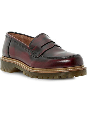 BERTIE Lacing leather penny loafers