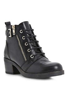 BERTIE Perdix zip and buckle ankle boots