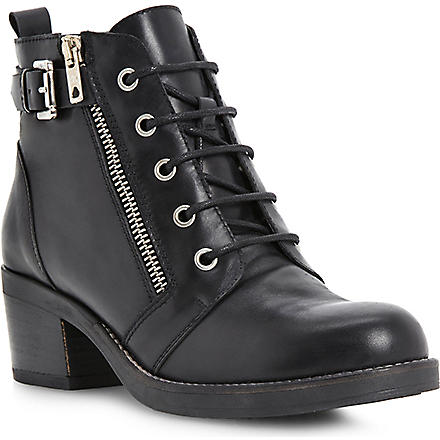 BERTIE Perdix zip and buckle ankle boots (Black-leather