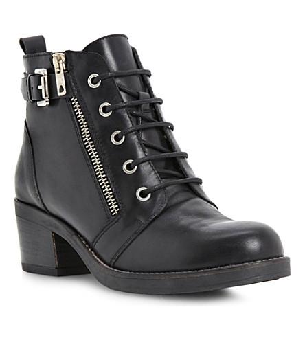 BERTIE Perdix zip and buckle ankle boots (Black-leather