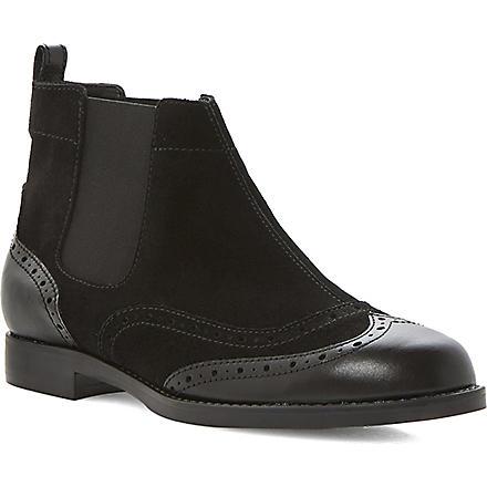 BERTIE Pander leather brogue boot (Black-suede