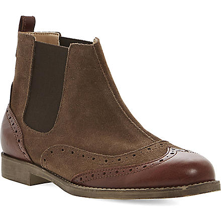 BERTIE Pander leather brogue boot (Brown-suede