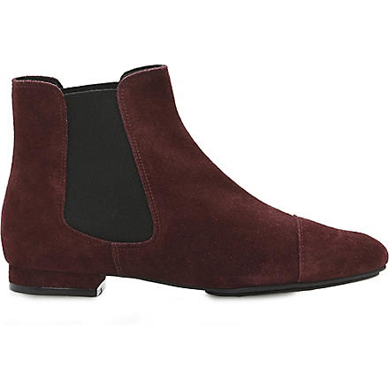 BERTIE Petter suede Chelsea ankle boots (Burgundy-suede