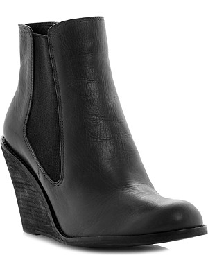 BERTIE Peoney leather wedge Chelsea boots