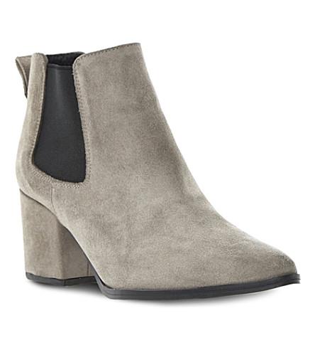 BERTIE Panola suede Chelsea boots (Grey suede