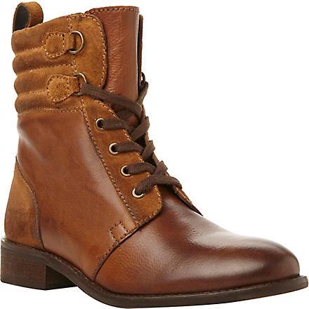 BERTIE Pontos leather hiker boots (Tan-leather