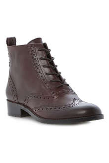 BERTIE Peron leather brogue ankle boots